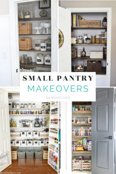 Small Pantry Makeovers