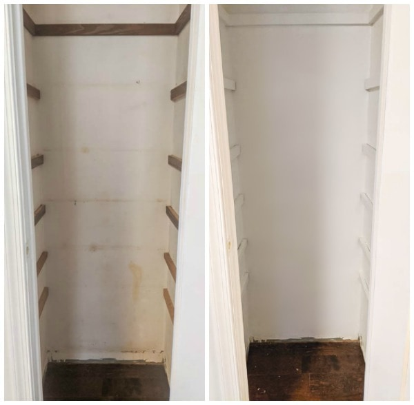 pantry before and after fresh paint