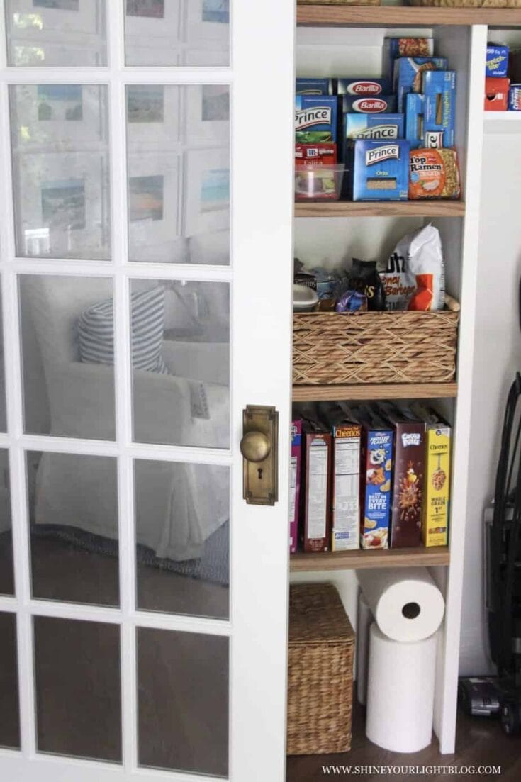 How To Organize A Reach-In Pantry | Our New Pantry Closet & A Super Easy DIY!