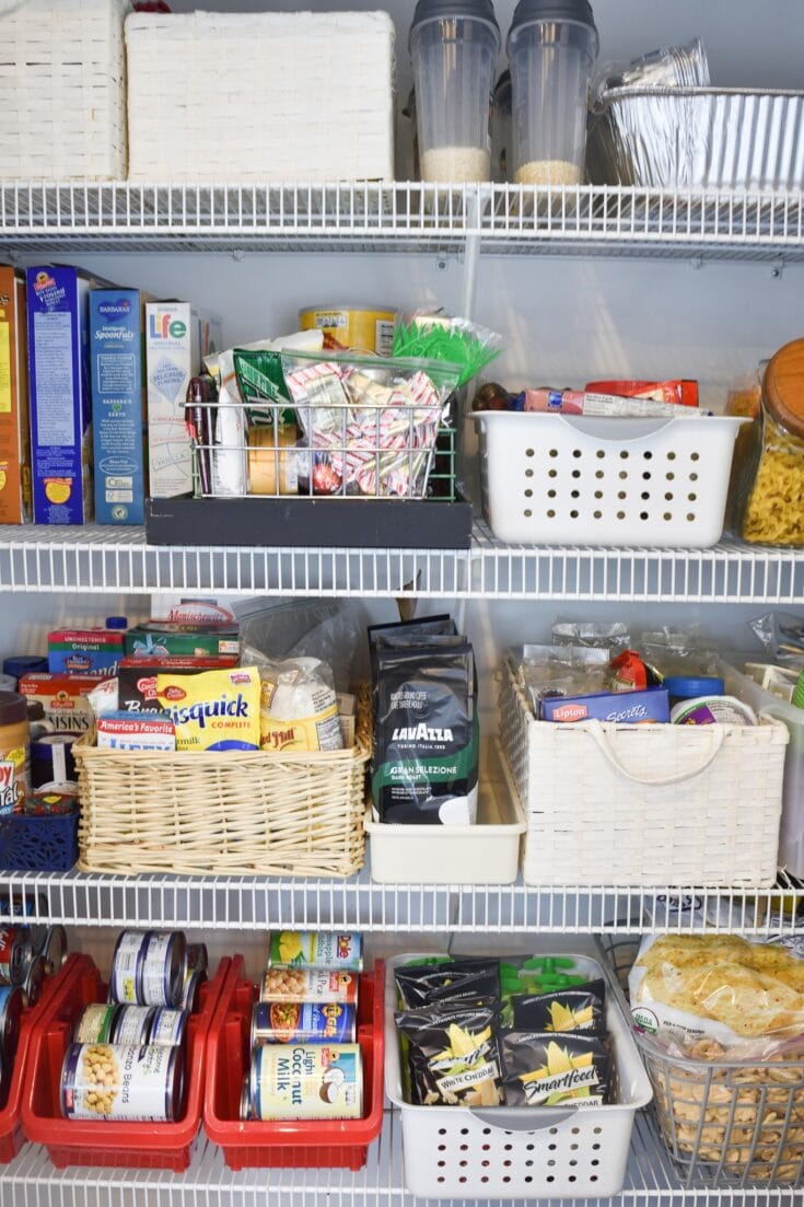 How to Organize the Pantry for Under $12 - At Home DIY Participant February Challenge