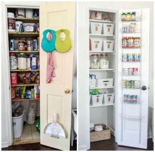 small pantry makeover before and after