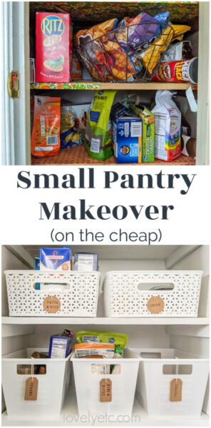 small pantry makeover on the cheap