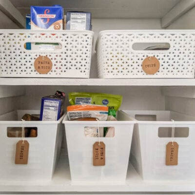 Small Pantry Makeover full of Inexpensive Organization