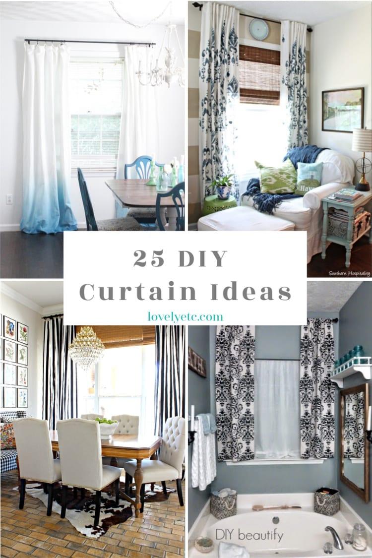 25 diy curtain ideas