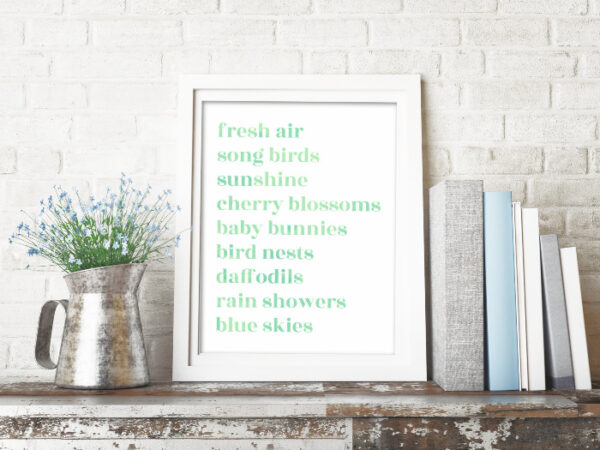 spring favorites free printable art