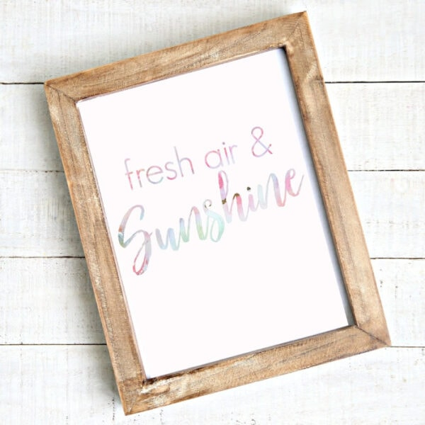 fresh air and sunshine free printable