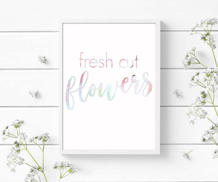 fresh cut flowers free printable