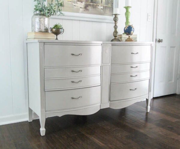 double box dresser painted with neutral paint