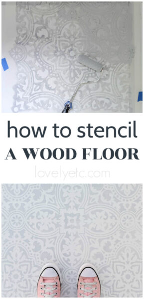 how to stencil a wood floor
