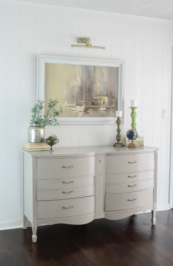 painted dresser in living room