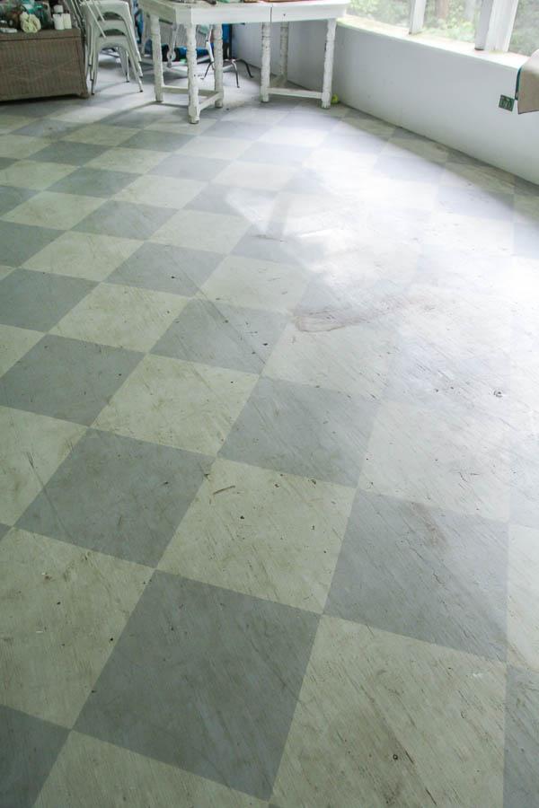 porch floor ready for a fresh paint job