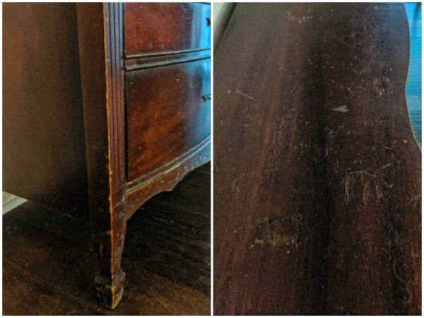 scratches on cherry dresser