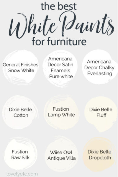 the best white paints for furniture