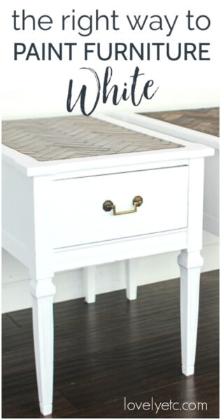 the right way to paint furniture white