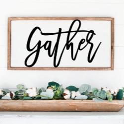gather vinyl stencil