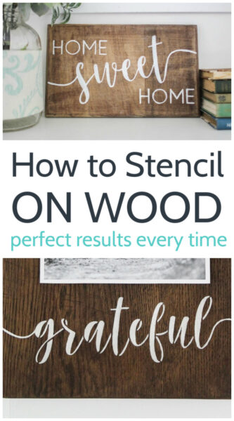 How to stencil on wood with perfect results every time