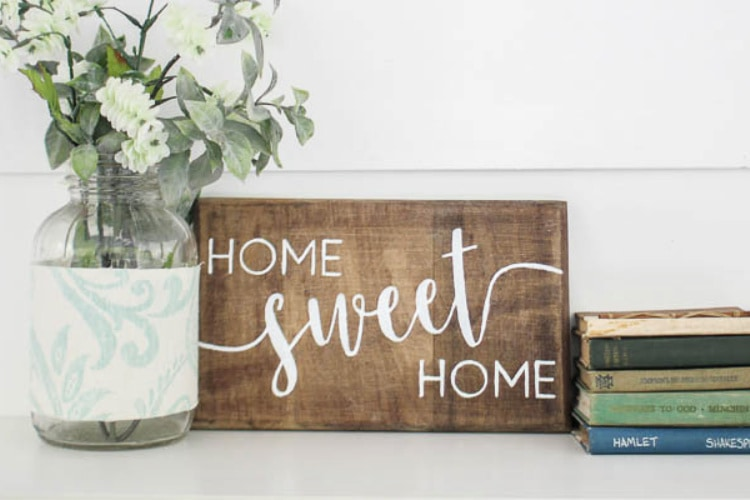 HOME SWEET HOME Sign DIY SPRAY PAINT DECOR Reusable Stencil Clear Template