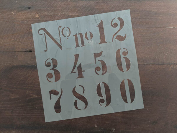 number stencil with all numbers 0-9