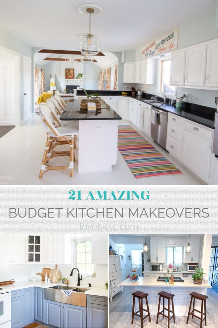 21 budget kitchen makeovers collage