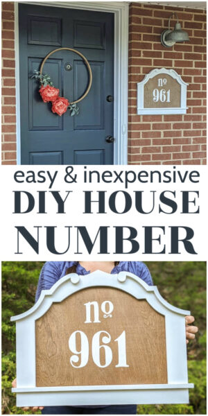 easy and inexpensive diy house number