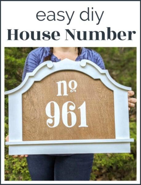 easy diy house number