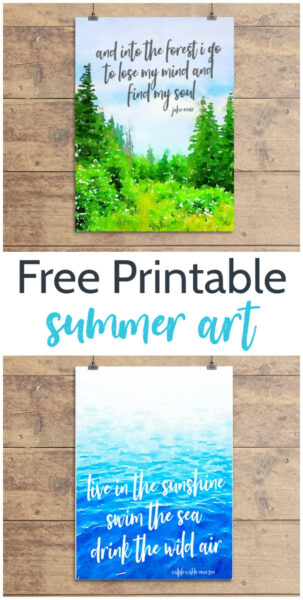 free printable summer art