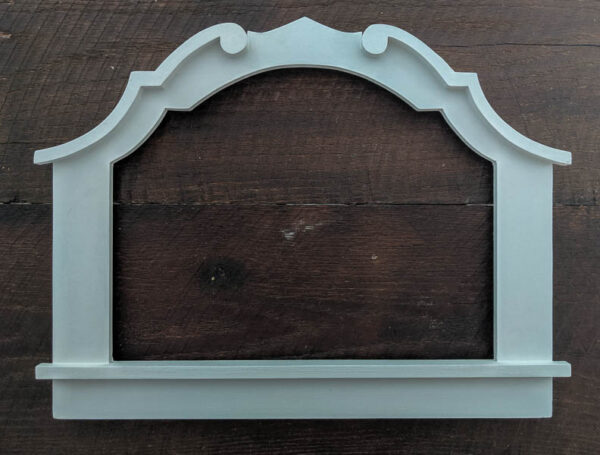arched frame painted white