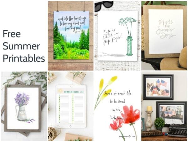 7 free summer printables