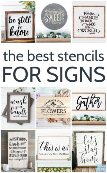 9 different stencils for making diy wood signs
