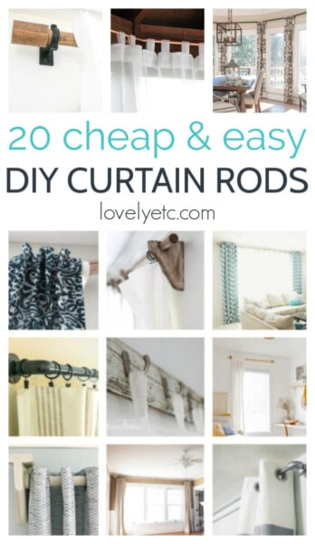 20 cheap and easy diy curtain rods collage