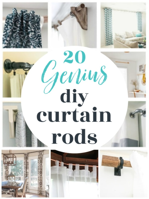 20 genius diy curtain rods collage