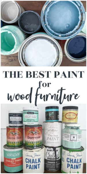 collage of different types of furniture paint