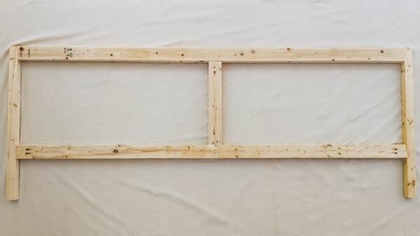 frame for back of diy wooden daybed