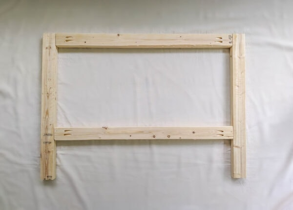 photo of side frame of diy daybed