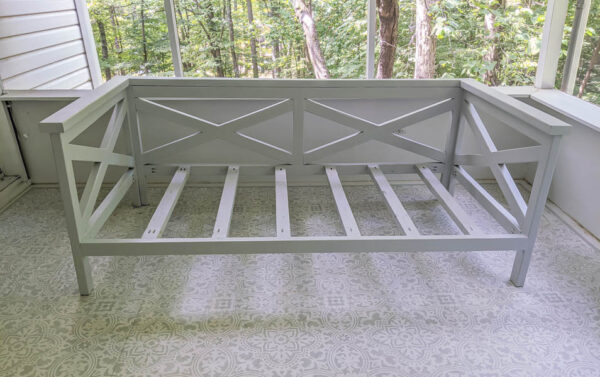 daybed painted light gray