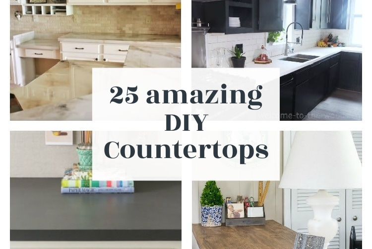 25 Amazing Diy Countertops You Can Make For Cheap Lovely Etc