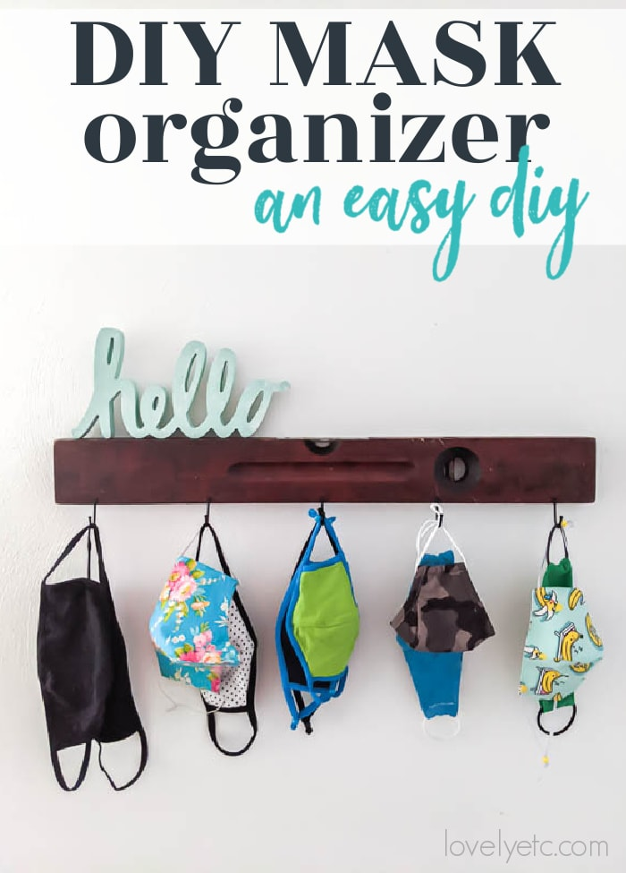 diy face mask organizer wall hooks