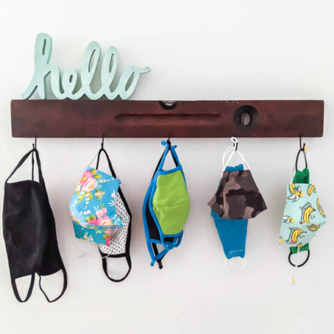 face mask organizer diy wall hooks