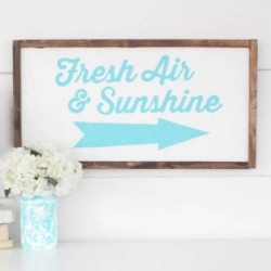 fresh air and sunshine sign