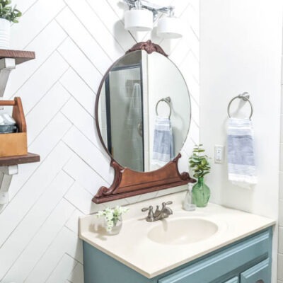 Gorgeous Small Bathroom Makeover on a $100 Budget
