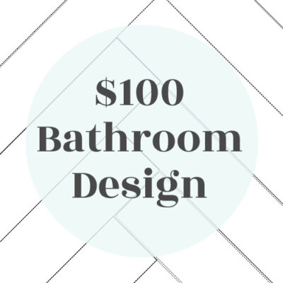 $100 Bathroom Makeover Design Plan