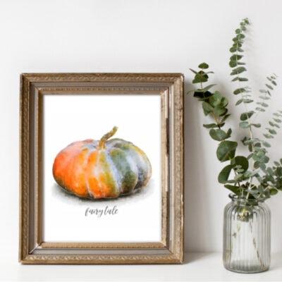 Free Fall Printables: Pretty Watercolor Pumpkins