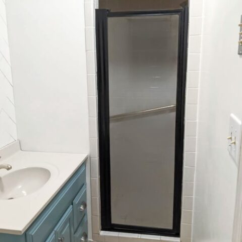 painted shower door