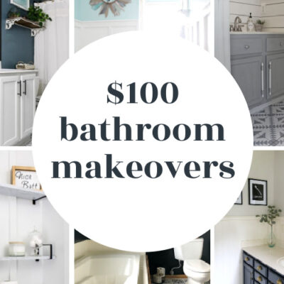 $100 Bathroom Makeovers You Have to See to Believe