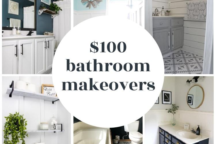 17 Budget Bathroom Makeovers Finished For Under 100