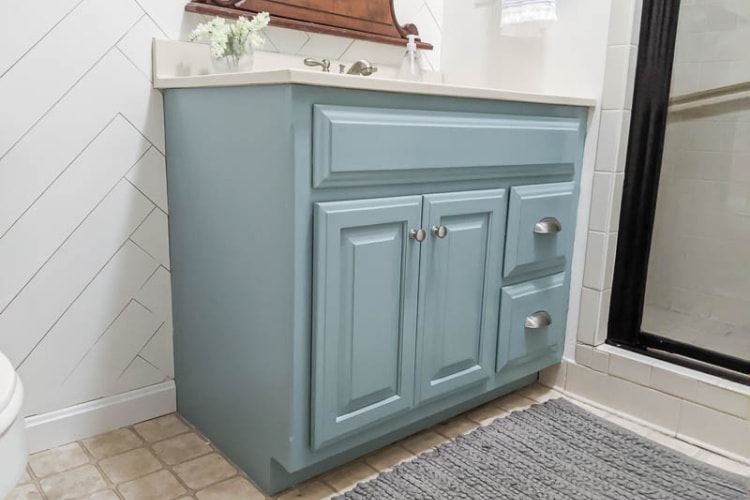 How To Paint A Bathroom Vanity Secrets For A Perfect Finish Lovely Etc