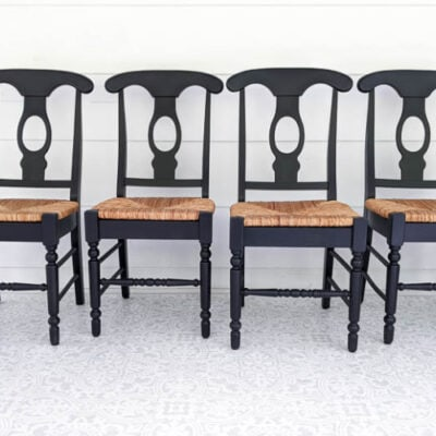 How to paint wooden chairs the easy way