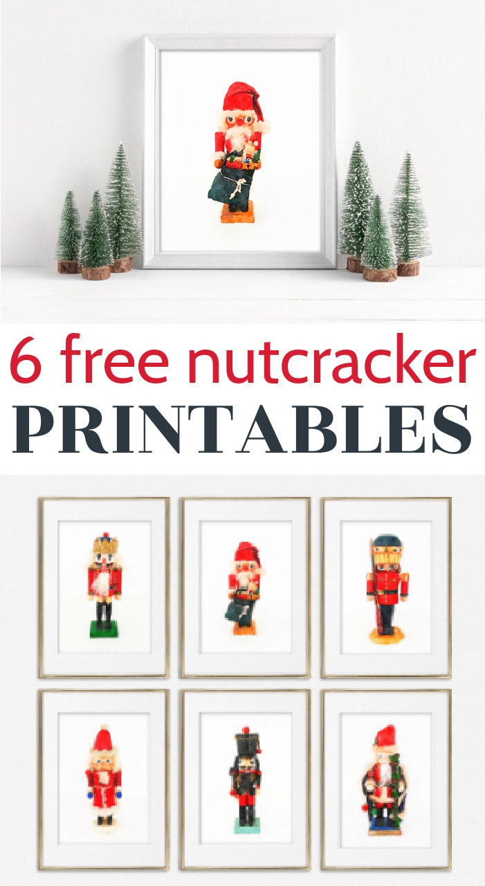 6 free nutcracker printables in frames