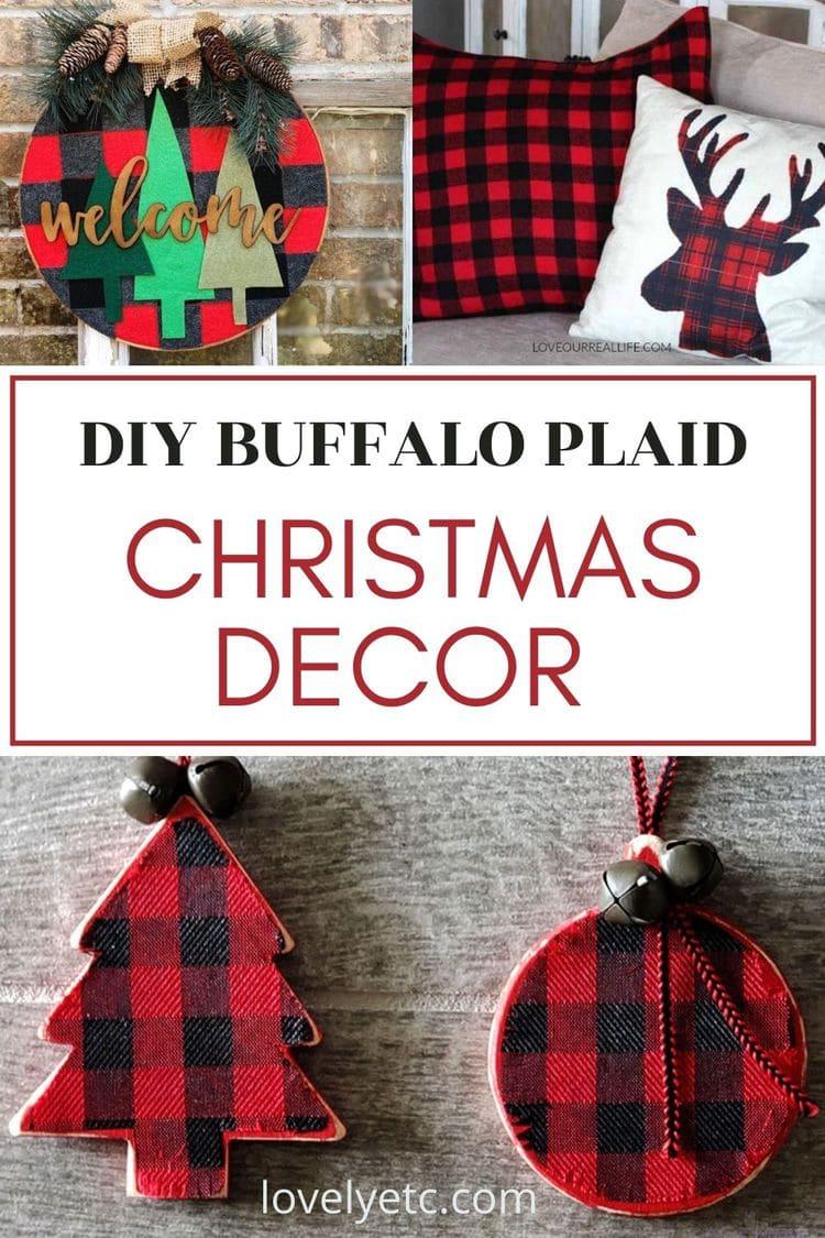 diy buffalo plaid Christmas decor