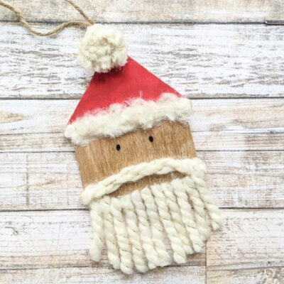 How to Make an Easy DIY Santa Ornament